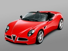 Alfa Romeo 8C Competizione Räder- und Reifenspezifikationensymbol