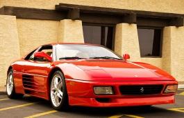 ícone de especificações de roda e pneus de Ferrari 348 GTB
