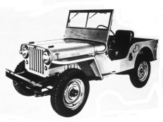 Jeep CJ CJ1-3 Open Off-Road Vehicle