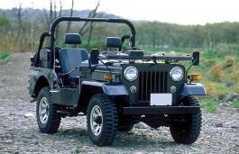 Mitsubishi Jeep Open Off-Road Vehicle