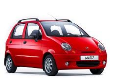 Ravon Matiz 轮毂和轮胎的参数标识