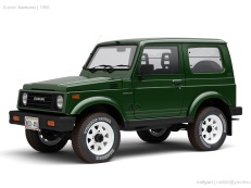 Suzuki Samurai JA51 Closed Off-Road Vehicle