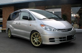 Toyota Estima Räder- und Reifenspezifikationensymbol