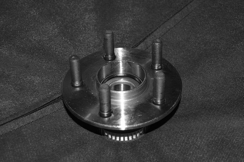 A wheel hub from a car
