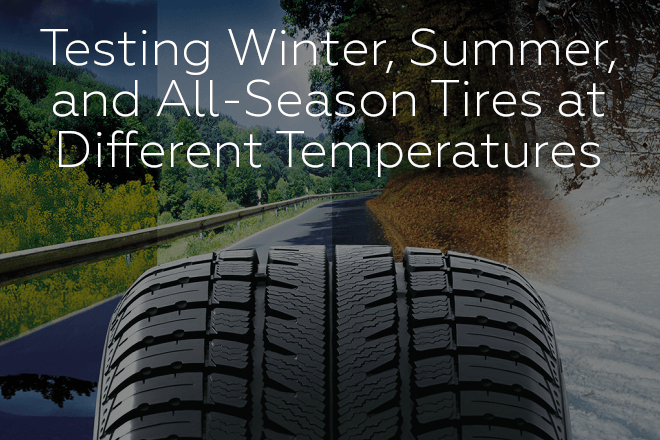 Testing Winter, Summer, and All-Season Tires at Different Temperatures