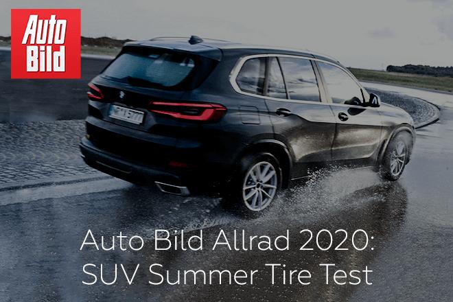 Auto Bild Allrad 2020: SUV Summer Tire Test - 255/55 R18